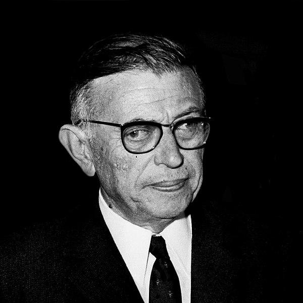 Jean-Paul Sartre, filósofo, romancista, dramaturgo e crítico literário francês
