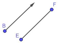 Semirreta e segmento de reta respectivamente.