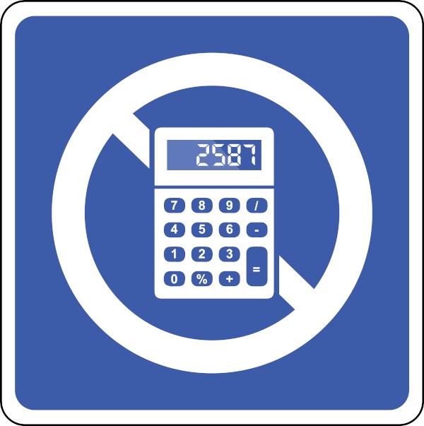Na prova não é permitido o uso de calculadoras.