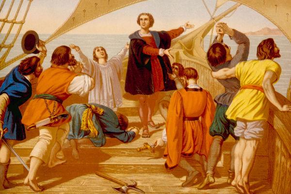 """Os historiadores consideram o termo """"descobrimento"""" inapropriado para referir-se à chegada dos europeus à América, em 1492."""