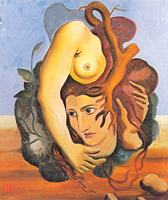 Composição surrealista (1929), obra de Ismael Nery.