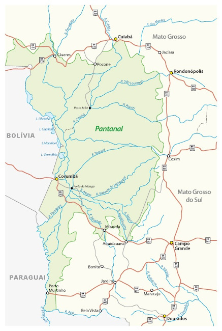 Extensão territorial do Pantanal