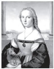 SANZIO, R. (1483-1520). A mulher com o unicórnio. Roma, Galleria Borghese Disponível em: www.arquipelagos.pt. Acesso em: 29 fev. 2012.