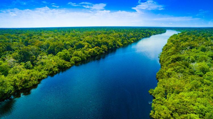 Rio Amazonas, Brasil.