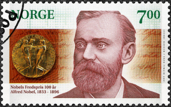 Alfred Nobel (1833-1896) foi um sueco que enriqueceu inventando e patenteando equipamentos bélicos, como a dinamite.[1]