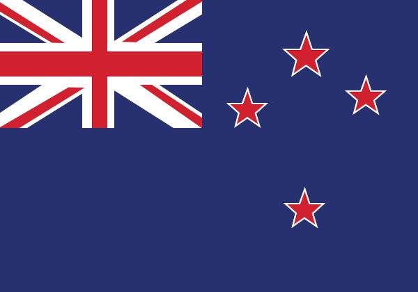 Bandeira da Nova Zelândia.