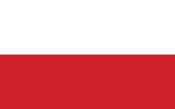 Bandeira da Polônia.