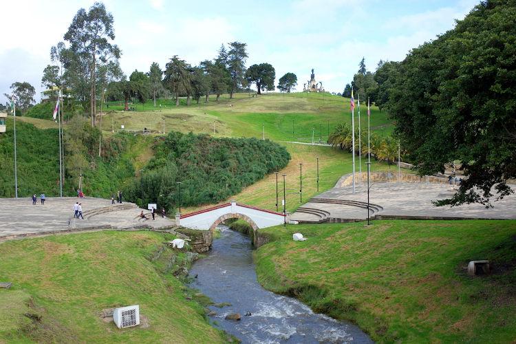 Local onde aconteceu a Batalha de Boyacá, em 1819.