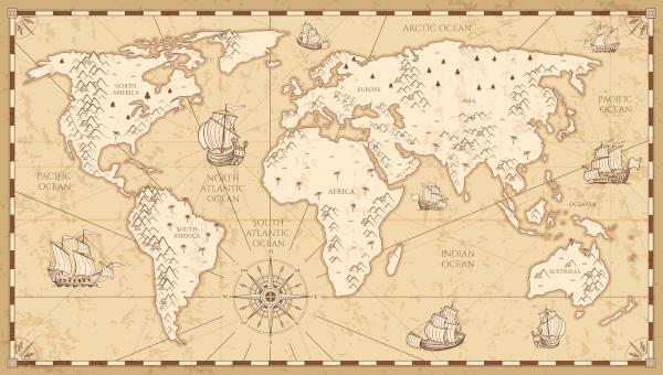 Os elementos dos mapas antigos eram representados por desenhos. Na atualidade, esses desenhos foram substituídos por símbolos e pelo uso da legenda.