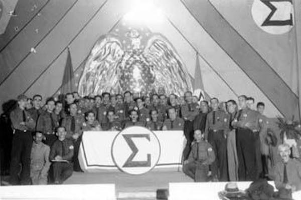 Integrantes do Integralismo reunidos em um congresso em 1935.