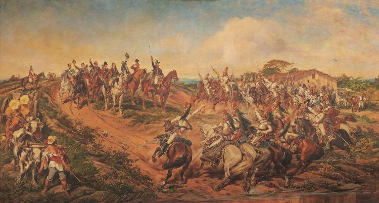 Em 7 de setembro de 1822, incentivado por José Bonifácio e Maria Leopoldina, d. Pedro declarou a independência do Brasil.[1]