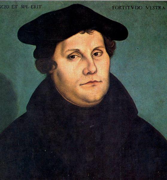 Martinho Lutero era um padre agostiniano e, com as suas 95 teses afixadas na Igreja de Wittenberg, desencadeou a Reforma Protestante.