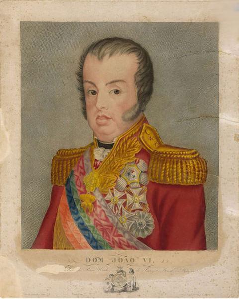 O rei Dom João VI viveu 12 anos no Brasil, comandando o império português de sua colônia na América.