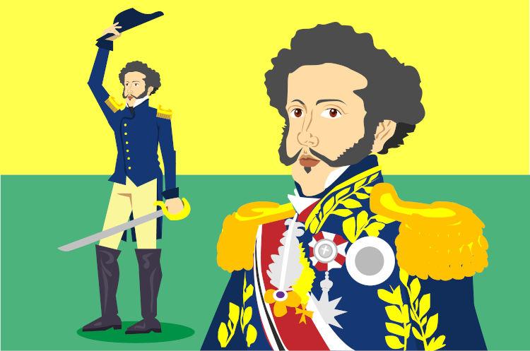 Após proclamar a independência, em 7 de setembro de 1822, d. Pedro foi aclamado imperador em outubro e coroado em dezembro.
