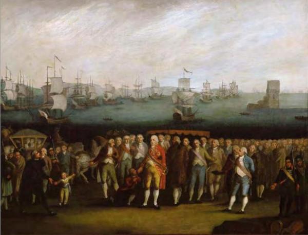 A família real embarcou, em novembro de 1807, para o Brasil.