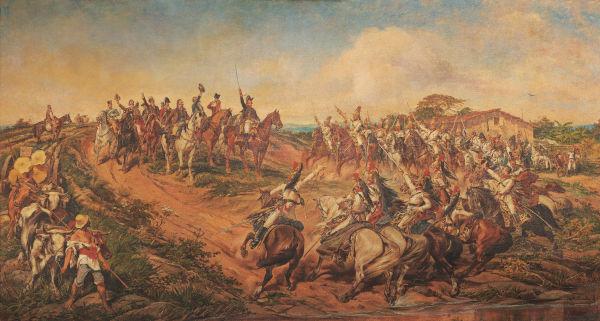 Em 7 de setembro de 1822, a independência do Brasil foi proclamada pelo regente d. Pedro.[1]