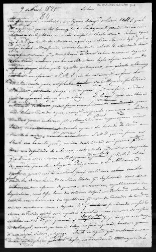 Documento de 1825, no qual os ingleses reconheceram a independência do Brasil.[3]