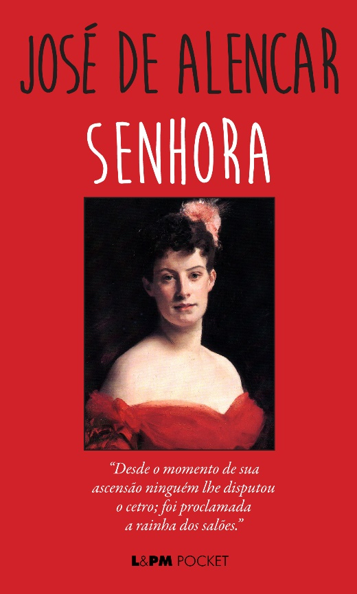 Capa do livro Senhora, uma das obras mais polêmicas de José de Alencar, publicado pela editora L&PM. [1]