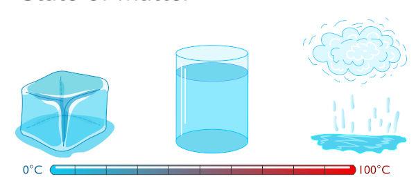 A calorimetria estuda, entre outras coisas, as mudanças de estado físico da matéria.