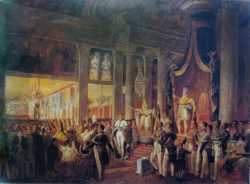 Coroação de Dom Pedro II, segundo e último imperador brasileiro.