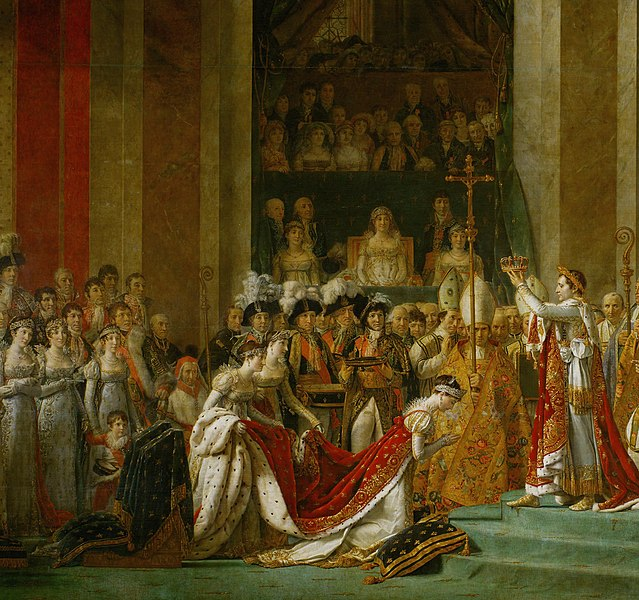 A coroação de Napoleão Bonaparte aconteceu em 2 de dezembro de 1804 e representou o predomínio do poder do imperador sobre a Igreja Católica.