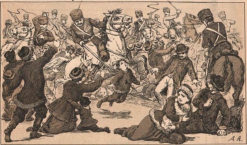 No Domingo Sangrento, em 1905, milhares de pessoas morreram por conta do ataque dos soldados do czar nas proximidades do Palácio de Inverno, em São Petersburgo.