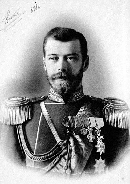 Nicolau II, último czar russo. Governou a Rússia até a revolução de 1917.