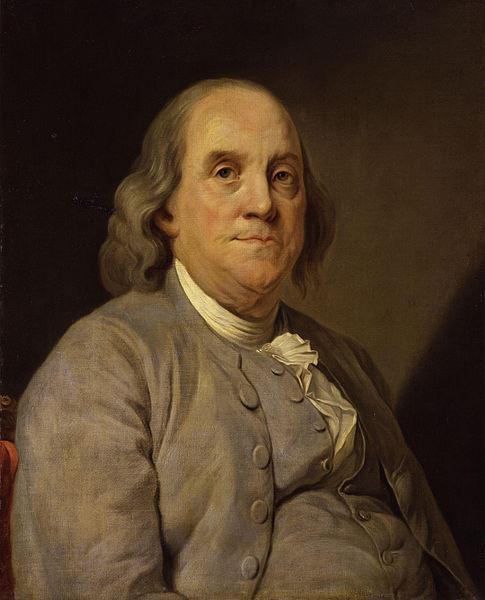 Benjamin Franklin, um dos pais fundadores dos Estados Unidos.