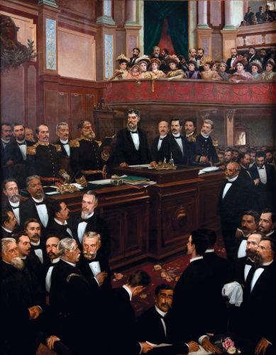 No dia 24 de fevereiro de 1891, a Assembleia Constituinte promulgou a nova Constituição do Brasil.[1]