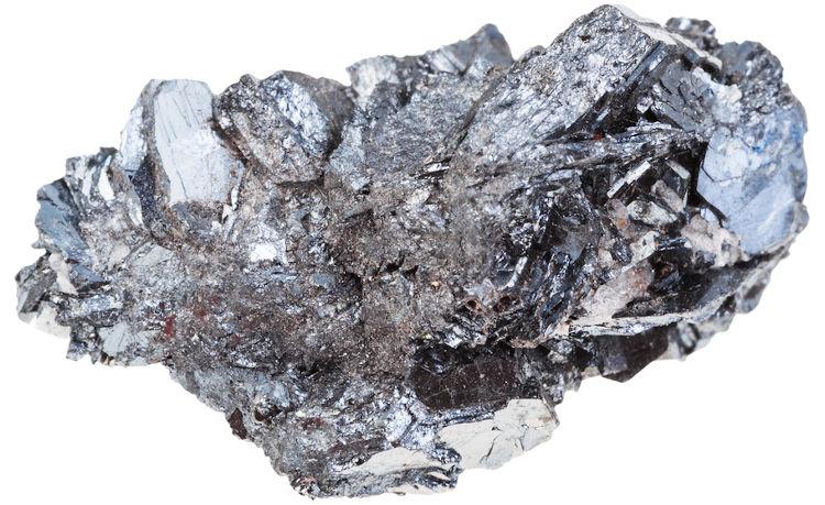 Hematita, mineral do qual se extrai o ferro.