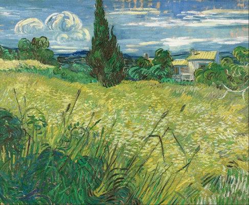 """Imagem 3: """"Green field"""", de Vincent van Gogh"""