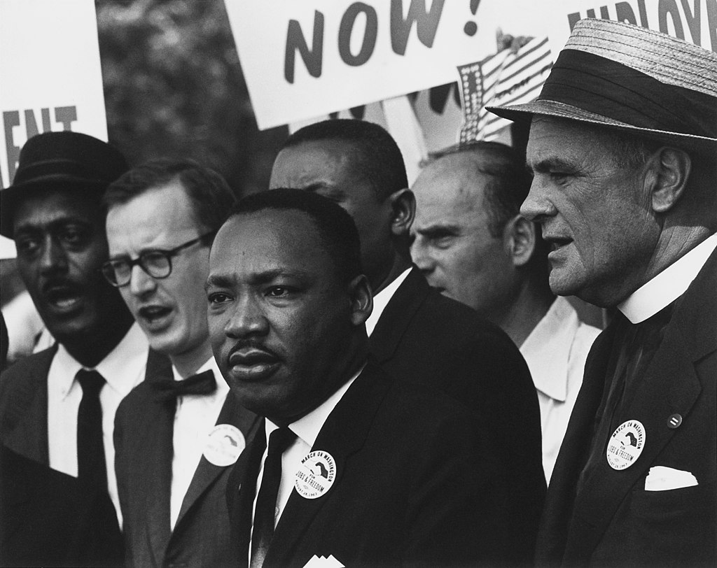 Martin Luther King durante seu famoso discurso em Washington.