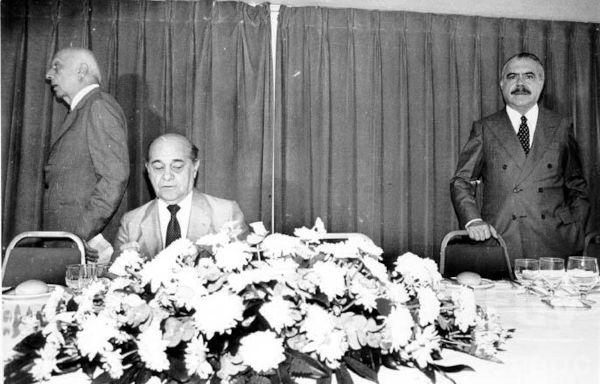 Ulysses Guimarães, Tancredo Neves e José Sarney. Três protagonistas da política brasileira no início da Nova República.[1]