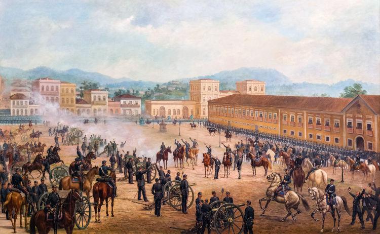 Com a proclamação da república, em 15 de novembro de 1889, a monarquia foi derrubada no Brasil.[1]