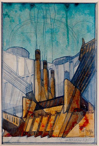 "Projeto de arquitetura ""Central elétrica""."