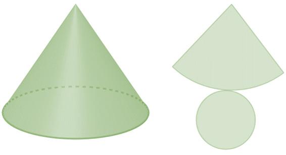 Planificação do cone.