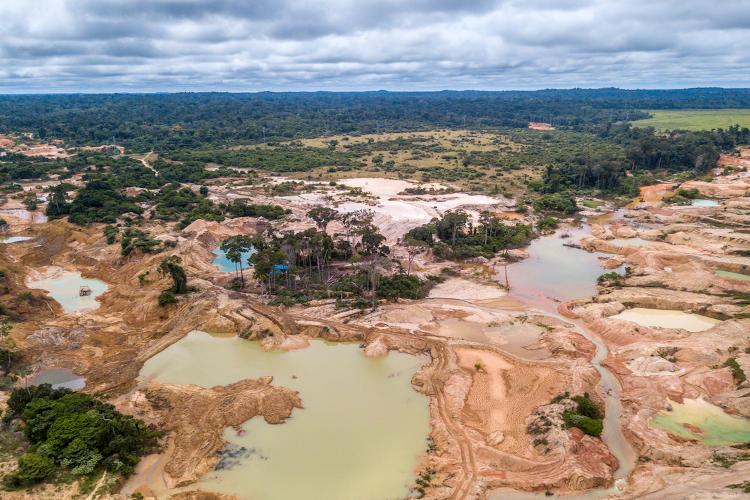 Área desmatada na Floresta Amazônica.