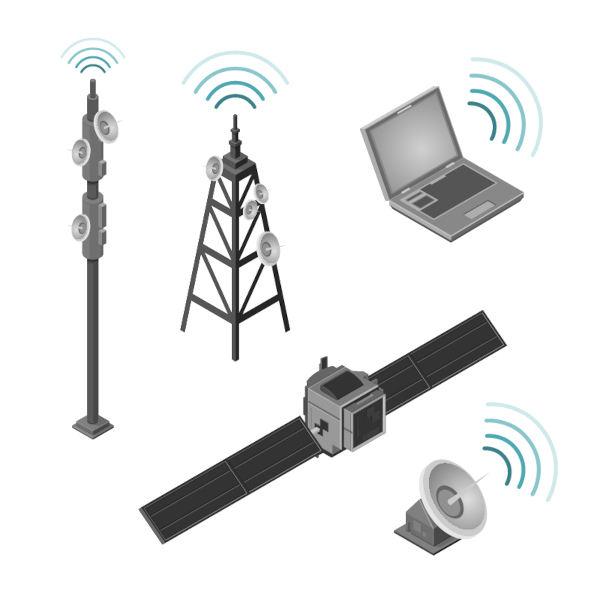 Celulares, notebooks e rádios são dispositivos que captam e emitem ondas de rádio.