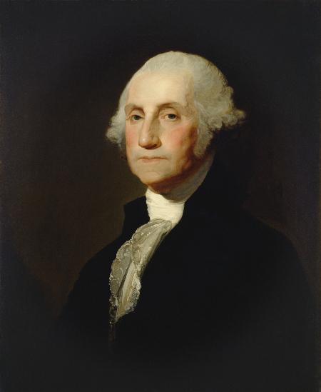 George Washington teve participação decisiva no processo de independência dos Estados Unidos e se tornou seu primeiro presidente.