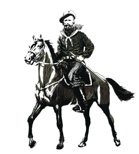 Giuseppe Garibaldi, um dos grandes nomes que lutaram pelos farrapos.