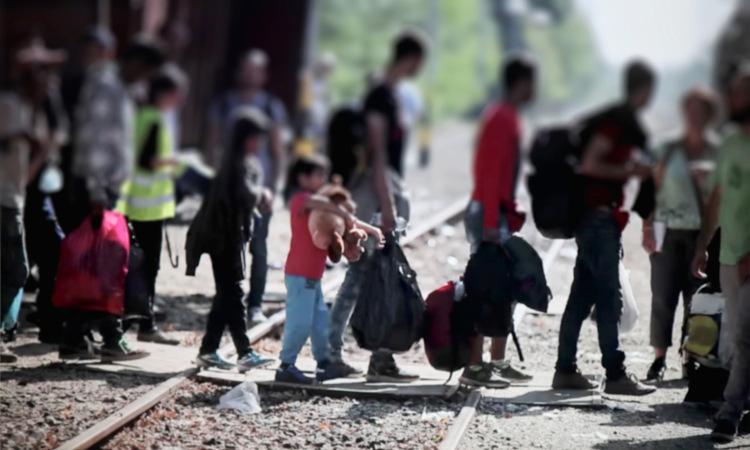 Migração de refugiados na Europa.