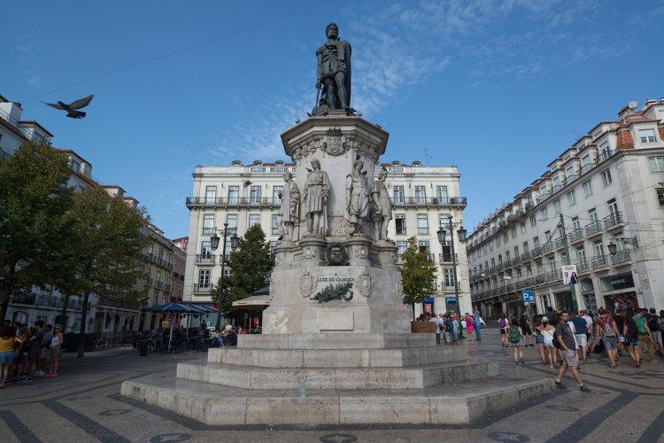 Monumento a Camões, situado em Lisboa. [1]