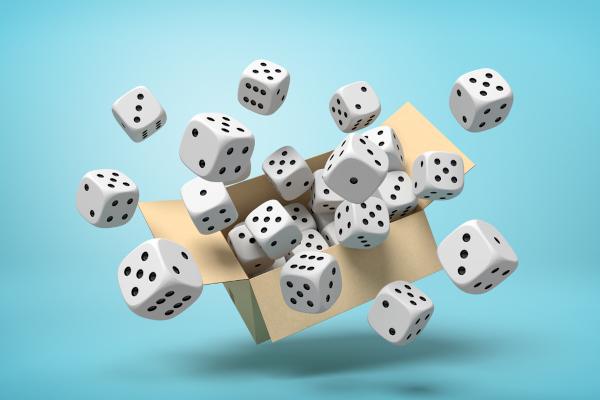 Probabilidade é a área da Matemática que estuda o comportamento de eventos aleatórios.