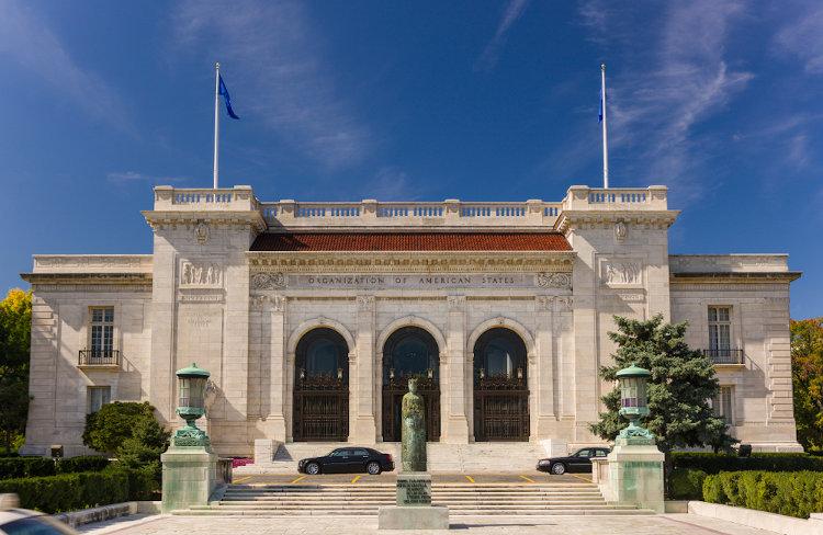 Sede da OEA, Washington D.C., Estados Unidos.[1]