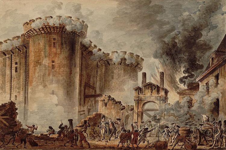 Tomada da Bastilha, obra de Jean-Pierre Houël (1735-1813).