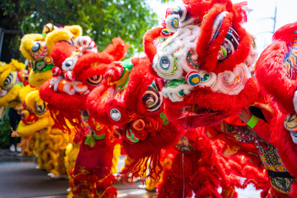 A dança é uma prática comum da celebração chinesa do Ano-Novo.[1]