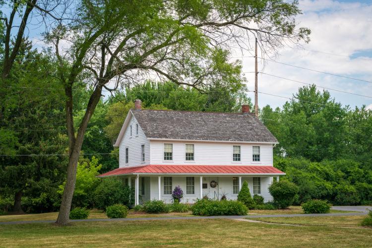 Propriedade onde Harriet Tubman e seus familiares residiram em Auburn, no estado de Nova York.