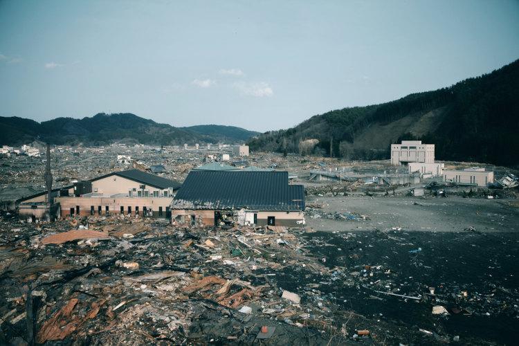 Tsunami em Fukushima, Japão.