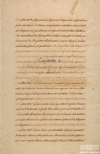 Trecho da Constituição de 1824, outorgada no dia 25 de março.[1]
