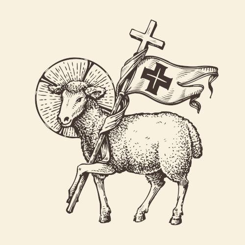 Jesus é relacionado com um cordeiro que se sacrificou para perdoar os pecados da humanidade.